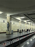 """Станция метро """"Партизанская"""". Станционный зал."""