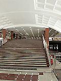 """Станция метро """"Митино""""  Выход в город из последнего вагона при движении поезда из центра на ул. Митинская и Дубравная, к кинотеатру """"Люксор""""."""