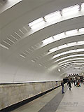 """Станция метро """"Бабушкинская"""". Станционный зал."""