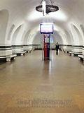 """Станция метро """"Алексеевская"""". Станционный зал."""