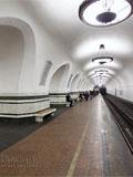 """Станция метро """"Алексеевская"""". Путевой зал."""