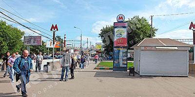 """Наружная рекламно-информационная установка на станции """"Нагатинская"""""""