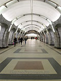 """Станция метро """"Чкаловская"""". Станционный зал."""