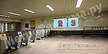 """Рекламные щиты по выходу пассажиров в город на станции """"Дубровка"""""""