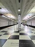 """Станция метро """"Братиславская"""". Станционный зал."""