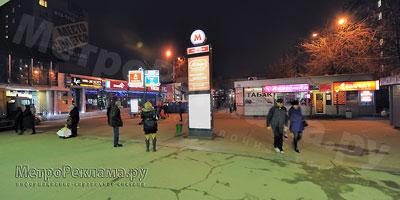 """Наружная рекламно-информационная установка на станции """"Речной вокзал"""""""