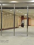 """Станция метро """"Митино"""" Северный вестибюль. Для обеспечения микроклимата в кассовом зале предусмотрены стекло-металлические двери разделяющие кассовый зал и выход в поземный переход."""