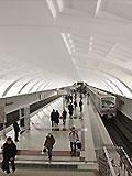 """Станция метро """"Митино""""  Северный вестибюль. Вход в станционный зал с балкона северного вестибюля."""