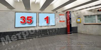 """Станция """"Бабушкинская"""". Южный подземный вестибюль станции по входу пассажиров. Кассовый зал. Хороший обзор при входе на станцию."""