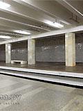 """Станция метро """"Полежаевская"""". Станционный зал. Третий путь."""