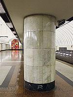 """Станция метро """"Дубровка"""", центральный станционный зал  и  путевая платформа."""