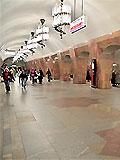 """Станция метро """"Марксистская"""". Станционный зал."""